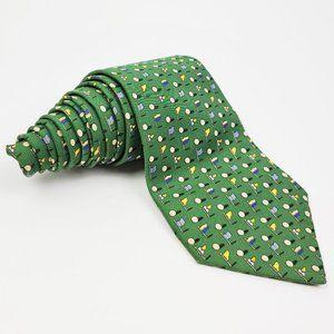 Salvatore Ferragamo 100% Silk Golf Men's Neck Tie